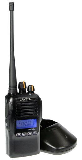 CRYSTAL HANDHELD UHF CB RADIO 5W DBH50M- RECHARGEABLE WATERPROOF HANDHELD  CB RADIO